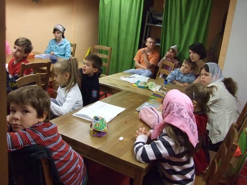 Jüngste Schulgruppe während des Unterrichts