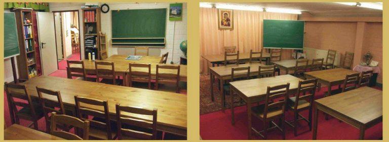 Klassenräume unserer kirchlichen Gemeindeschule